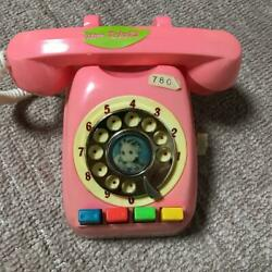 Vintage Licca Chan Toy Pink Telephone With Push Buttons Free Shipping From Japan