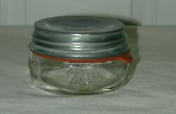 Ball Mason Half Pint Wide Mouth Fruit Jar With Zinc Lid And Rubber Ring