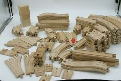 Vintage Thomas The Train And Friends Wooden Track Huge Lot With Over 100 Pieces