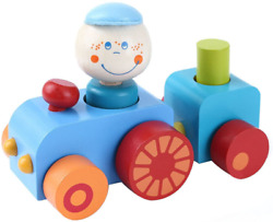 Toddler Toys Wooden Pull Along Toy For 1 Year Old Girl Boy Wooden Train Set