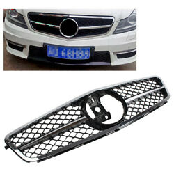 1-pin Front Grille Grill Chrome Fits Mercedes Benz C Class W204 2007-14 Facelift