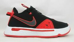 Nike Pg 4 Unisex Adult's Sneaker- Us Size M's 8 /w's 9.5, Black/red Cd5079 003