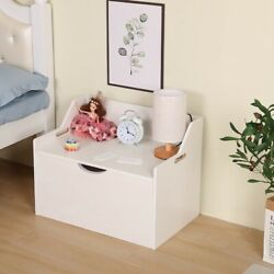 ❥lift Top Entryway Storage Chest/bench Wooden Toy Box Kids' Storage Chests Trunk