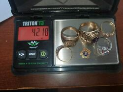 Gold Scrap Jewelry Lot 10k And 14k Small Diamonds And Gems