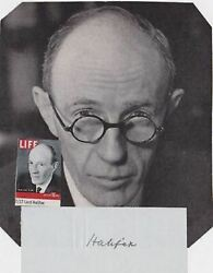 Lord Halifax Viceroy Of India British Politician Original Autograph Signature And