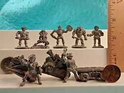 Rare Lot Of 9 Vintage He-man Masters Of The Universe Miniature Metal Figurines