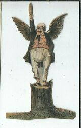 Bb-214 Moline Plow Company, Victorian Trade Card Cut Out Man With Sword