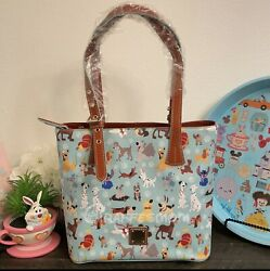 Disney Dooney And Bourke New 2017 Disney Dogs Blue Tote Actual Placement