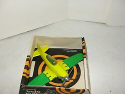 Vintage Hubley Wwii Fighter Airplane With Folding Wings And Retractable Wheels