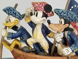 Unstoppable Heroes Mickey Donald Goofy 4004154 Jim Shore Disney Mint With Box