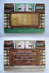 2015-16 Leaf Lumber Kings Liut Mike 1/1 Brown Goalie Stick Gold 1 Of 1 Blues