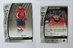 2017-18 Sp Game Used 153 Madison Bowey 20/22 True Rc Capitals Rookie Rare