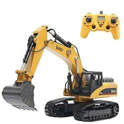 1580 114 Scale All Metal Rc Excavator Toy For Adults Remote Control Digger