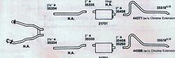 1969 Mercury Cougar Dual Exhaust System Aluminized 351 Engines Only