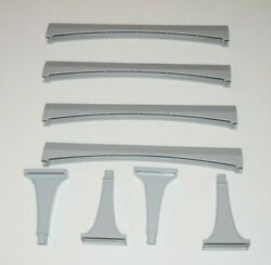 Walt Disney Parks Monorail Playset 4 Straight Track And 4 Support Columns Lot