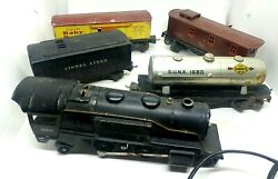 Vintage Lionel Lines Train Set 5 Cars Track And Power Supply Toy Transformer