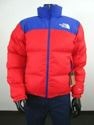 Mens Tnf The 1996 Retro Nuptse 700-down Insulated Jacket - Red / Blue