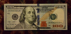 2009 United States 100 Dollar Bill Star Note Series Low Rare Serial Number
