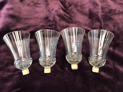 4 Renissance Ribbed Votive Candles Holders 5 1/4 W Grommets Homco Home Interior
