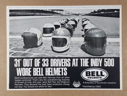 1970 Bell Helmets 31 Of 33 Indy 500 Drivers Vintage Print Ad