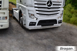 To Fit 2019+ Mercedes Actros Mp5 Truck Stainless Low Under Bumper Bar + Mud Flap