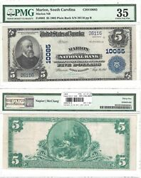 1902 5 Marion National Bank Sc 10085 Pmg Choice Very Fine-35