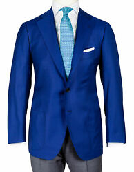 Cesare Attolini Jacket In Blue Textured With Patch Pockets/regeur3290