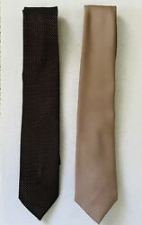 2 Jc Penney The Mens Shop Polyester Neck Ties Neckties