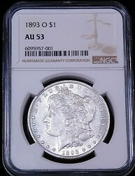 1893-o Morgan Silver Dollar Ngc Au53 White Good Luster Just Graded By Ngc Ge756