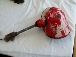 Cool Old Red Vintage Service Station Gas Pump Industrial Light Fixture
