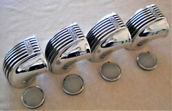 4 Thickstun Carb Scoops Hot Rod Flathead Ford V8 Stromberg Intake Velocity Stack