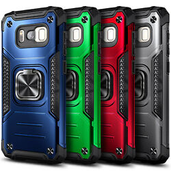 For Samsung Galaxy S8/s8 Plus Case Ring Stand Phone Cover With Screen Protector