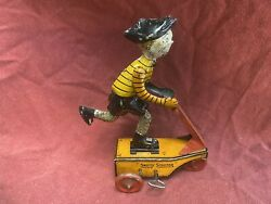 Vintage 1920andrsquos Marx Smitty Scooter Tin Wind Up Toy Rare Highend Piece