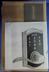 Schlage Fe695 Cam 619 Keyless Touch Keypad Nickel Accent Lever New, Open Box