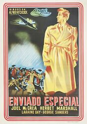 Foreign Correspondent R1950s Spanish B1 Poster