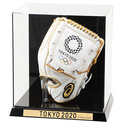 Commemorative Glove White X Gold Tokyo 2020 Olympic Emblem Asics F/s From Japan