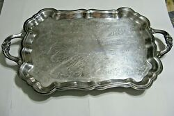 Antique F.b. Rogers Silver Co. Trademark 1883 Silver-plated Large Tray