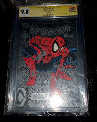 Spider-man 1 Cgc 9.8 Stan Lee Signed 🔑 1990 Todd's Silver Edition And Color Sig