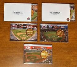 Mlb Stadium Coin Collection 24k Gold Flash Medallion - 5 Coin Lot
