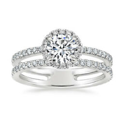 Natural 1.40 Ct Round Cut Diamond Engagement Ring 14k White Gold Size Selective