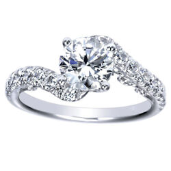 Real 0.90 Ct Round Cut Diamond Engagement Ring 14k White Gold Size Selective