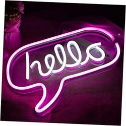 Led Neon Light Signs For Room Decor - Art Neon Signs Used For Wall Hello-pink