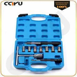 Diesel Injector Seat Cutter Set With Pilothex, Hex Key, Flat Reamer 10 Pcs