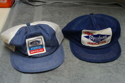 K Products Ford New Holland Dow Chemical Farm Trucker Patch Snap Back Hat Denim