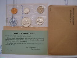 1956- 1964 Proof Set United States Us Mint Original Government Packaging Box