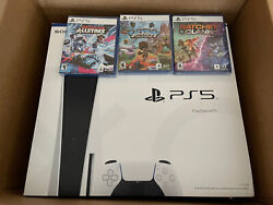 Sony Playstation 5 Console Disc Version With 3 Games Ships Fast, Brand New