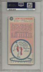 1969 Topps Basketball Lew Alcindor Rookie Card 25 Psa 3 Very Good Condition
