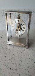 Jaeger Le Coultre In Line Skeleton Baguette Mantle Clock Mystery Carriage Clock