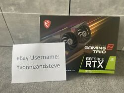 Msi Geforce Rtx 3070 Gaming Z Trio 8gb Brand New ✅ Free Next Day Delivery 🚚