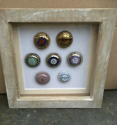 Champagne Pommery Capsules Plaques De Muselets Caps Framed Display